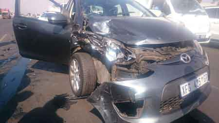 Material Damage suffered in a car accident