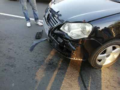 Mercedes car accident South Africa