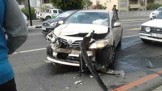 Front impact car accident South Africa