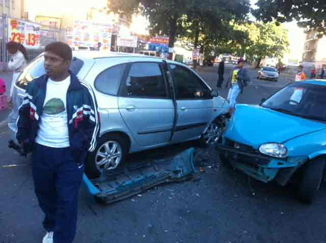 Involved in a car accident in South Africa