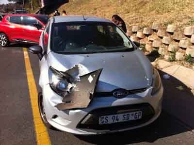 Involved in a car accident in South Africa and
