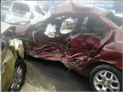 Salvage in a car accident