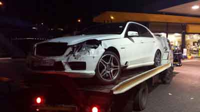 Vehicle accident in South Africa